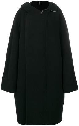 Rick Owens hooded oversized coat