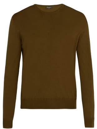 Berluti - Crew Neck Wool Sweater - Mens - Brown