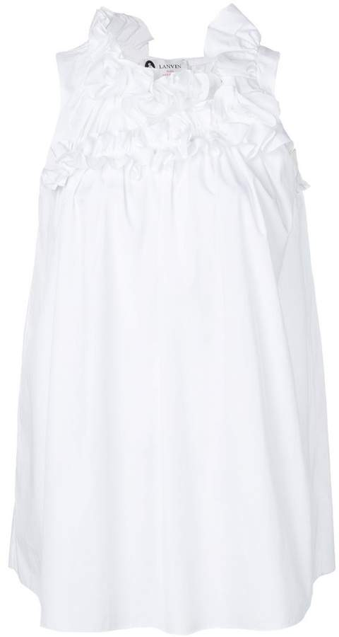Lanvin frilled sleeveless blouse