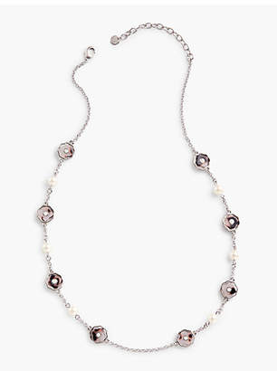 Talbots Pearls & Flowers Necklace