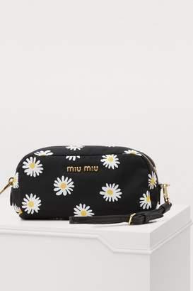 Miu Miu Small floral print pouch