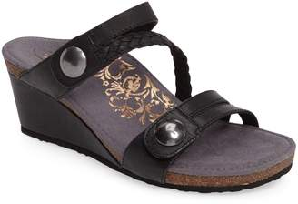 Aetrex Lydia Strappy Wedge Sandal