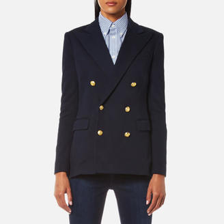 Polo Ralph Lauren Women's Double Breasted Blazer Aviator Navy