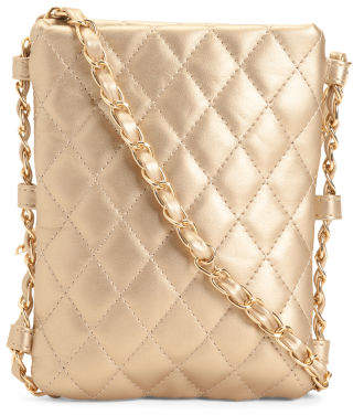 Quilted Crossbody With Chain Shoulder Strap