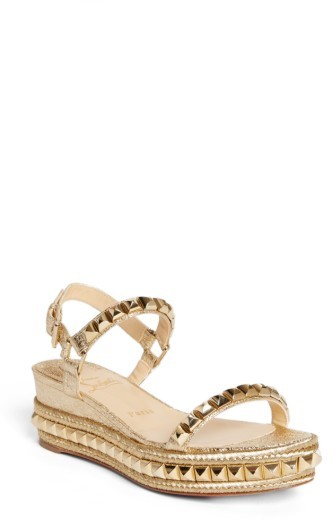 Women's Christian Louboutin Cataclou Espadrille Wedge Sandal