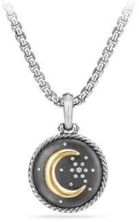 David Yurman Moon and Star Diamond& 18K Gold Amulet