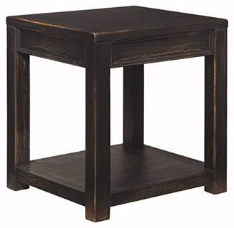 Signature Design by Ashley Ashley Furniture Signature Design - Gavelston End Table - Square - Rubbed Black Finish