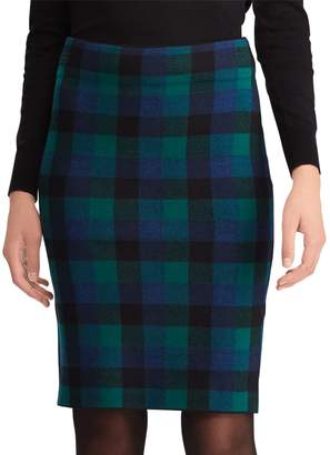 Chaps Women's Plaid Pencil Skirt