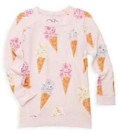 Chaser Little Girl's& Girl's Ice Cream Cone Tee
