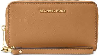 009a8aac0a6c Michael Kors Jet Set Travel Multifunction Crossgrain Leather Wallet