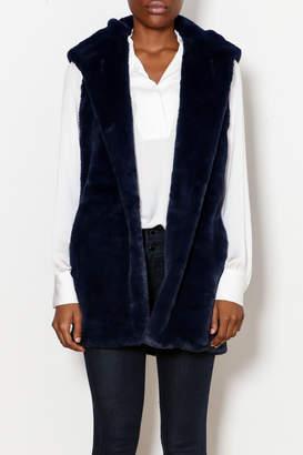 Capote Fur Hooded Vest