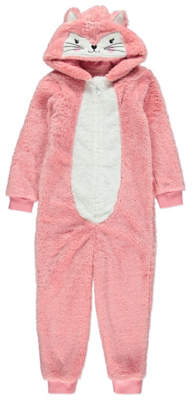 George Pink Fox Hooded Fleece Onesie
