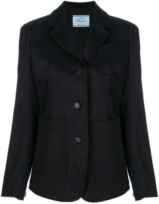 Prada patch pocket buttoned blazer
