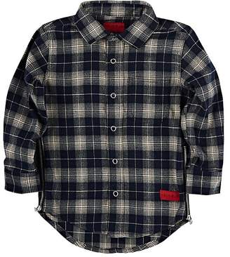 Haus of JR Kids' Cotton Plaid Flannel Shirt