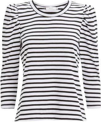 A.L.C. Karlie Puff Shoulder Striped T-Shirt