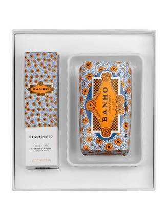 Claus Porto BANHO Hand Cream, Soap and Dish Gift Set