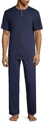 Lacoste Men's Two-Piece Cotton Lounge Pajama Set