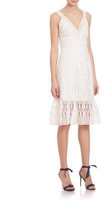 Diane von Furstenberg Tiana Floral-Lace Dress $598 thestylecure.com
