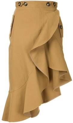 Self-Portrait ruffled asymmetric skirt
