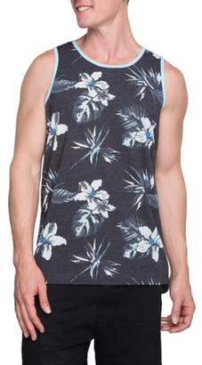 George Big Men's Tropics Repeat Graphic Tank, Up to Size 3XL