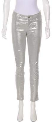 J Brand Metallic Leather Pants