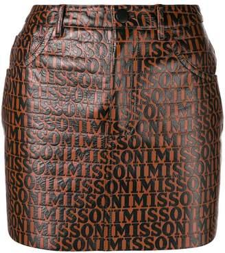 Missoni leather mini skirt
