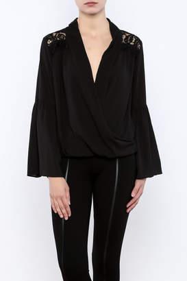 Do & Be Lace Shoulder Top