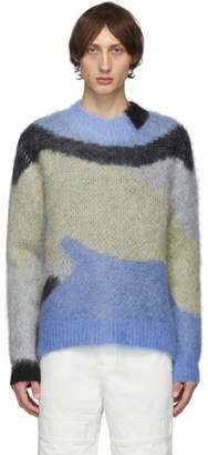Ambush Blue and Green Mohair Sweater