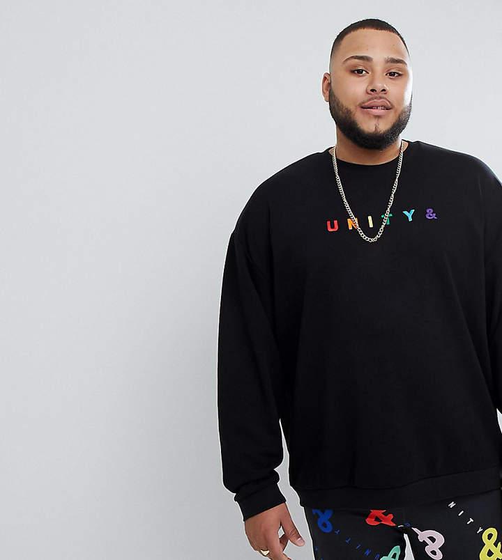 X GLAAD PLUS – Sweatshirt mit Unity-Stickerei