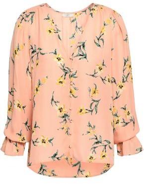 Joie Bolona Floral-print Silk Blouse