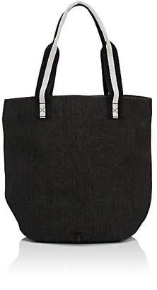 Barneys New York WOMEN'S DENIM BUCKET BAG - BLUE