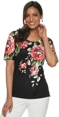 35967bbaea383e Women s Cathy Daniels Floral Print Sweater