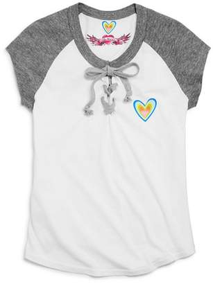 So Nikki... Girls' Lace-Up Heart Tee - Big Kid