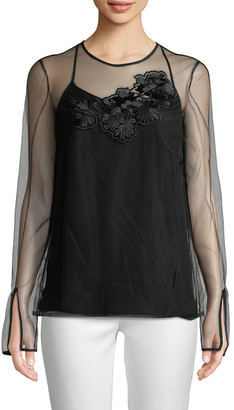 Versace Silk Embroidery Camisole