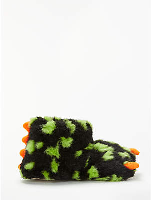 John Lewis & Partners Children's Monster Claw Boot Slippers, Green/Multi