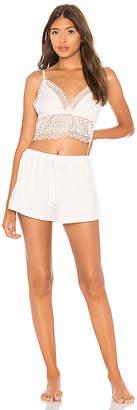 Flora Nikrooz Cotton Bralette and Short PJ Set