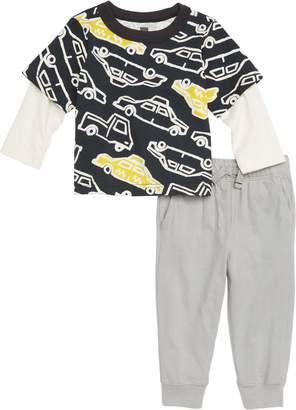 Tea Collection Rush Hour Layer T-Shirt & Pants Set