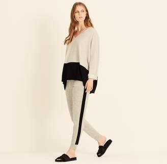 Amanda Wakeley Pebble & Black Colour Block Cashmere Sweater