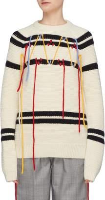 Calvin Klein Fringe stripe sweater