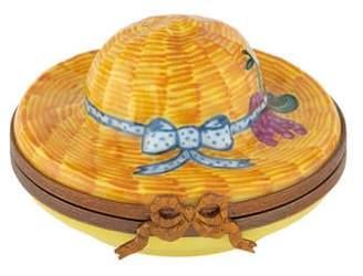 Limoges Hat Trinket Box