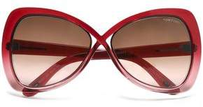 Tom Ford Cat-Eye Acetate And Silver-Tone Sunglasses