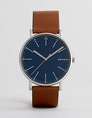 Skagen SKW6355 Signature Leather Watch