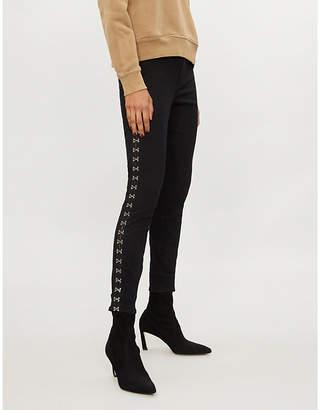 Good American Good Waist hook-and-eye skinny high-rise jeans