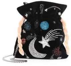 Les Petits Joueurs Trilly Universe Velvet Pouch Mini Bag