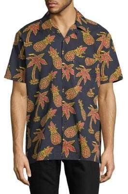 Wesc Nevin Short Sleeve Pineapple Shirt