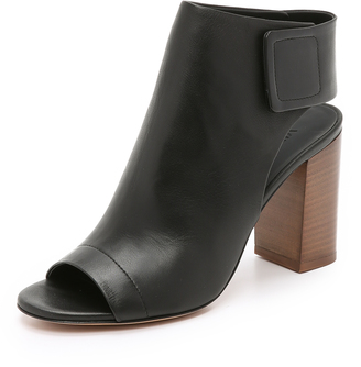 Vince Faye Open Toe Booties $395 thestylecure.com