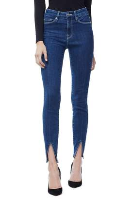 Good American Good Legs Crop Front Slit | Blue181