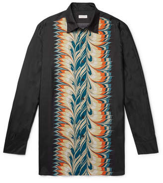 Dries Van Noten Printed Silk Shirt