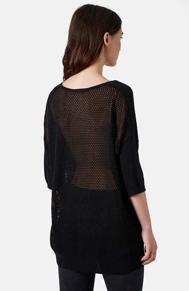Topshop Mesh Back Knit Sweater