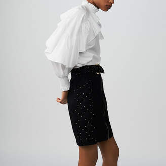 Maje Short skirt with studs and embroidery